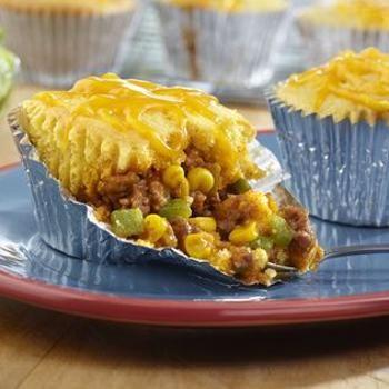 Mini Taco Tamale Pies Recipe - Campbell's Kitchen & ZipList