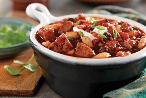 Smoky Pork, Bacon, and White Bean Chili | Oh yum! | Pinterest