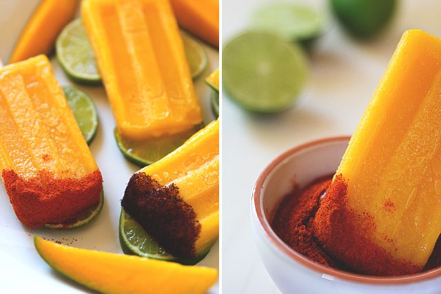 ... glorious. (Tequila-Spiked Mango Popsicles with Chile // HonestlyYUM