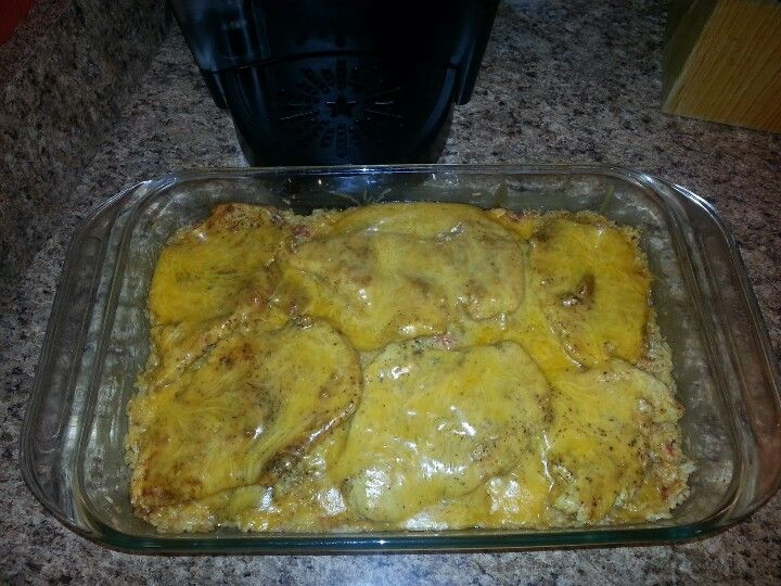 Cheesy Fiesta Chicken You will need: Boneless skinless chicken breasts ...