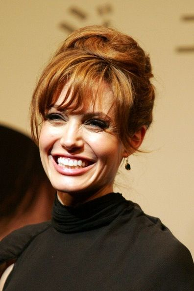angelina jolie hair and bangs quotmy stylequotif i had the
