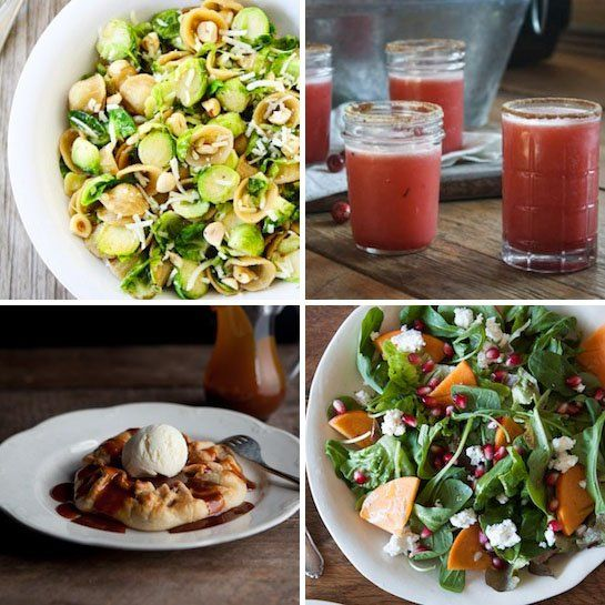 Brown Butter Brussels Sprouts Pasta & Cranberry Margaritas Delicious ...