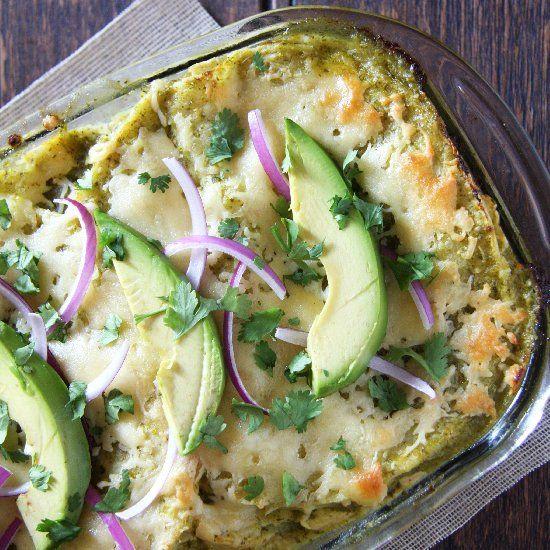Salsa Verde Chicken Enchilada Bake + How to Make Perfect Shredded ...