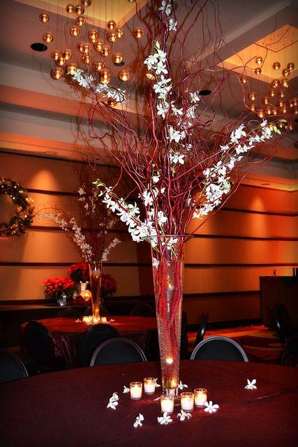 Tall branch centerpiece wedding ideas pinterest