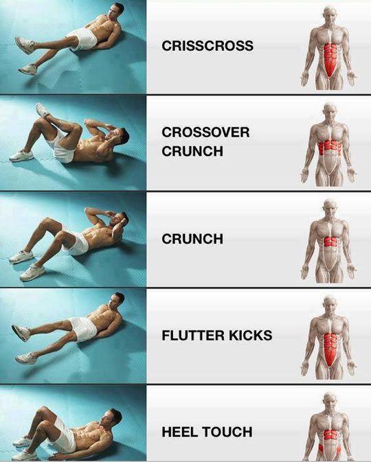 Ab exercises.