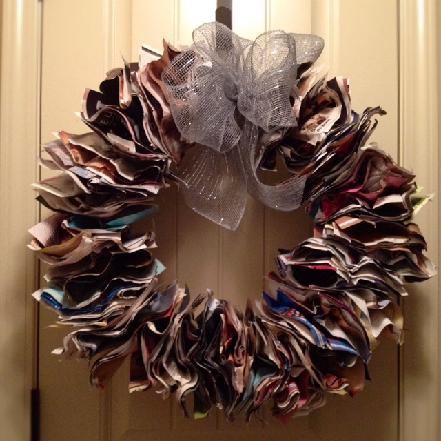 diy magazine wreath craft ideas pinterest