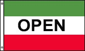 business flags open