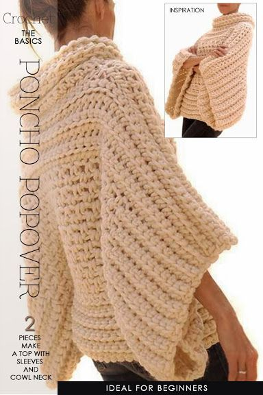 Free Crochet Pattern For Poncho Sweater : poncho