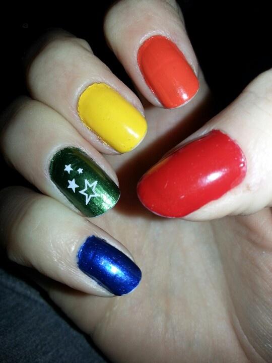 Rainbow Brite nails | FunKy Nail Art | Pinterest