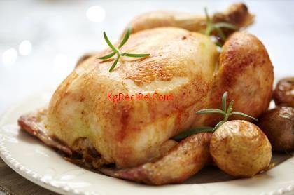 Roast Sticky Chicken in Rotisserie Style - KgReciPe