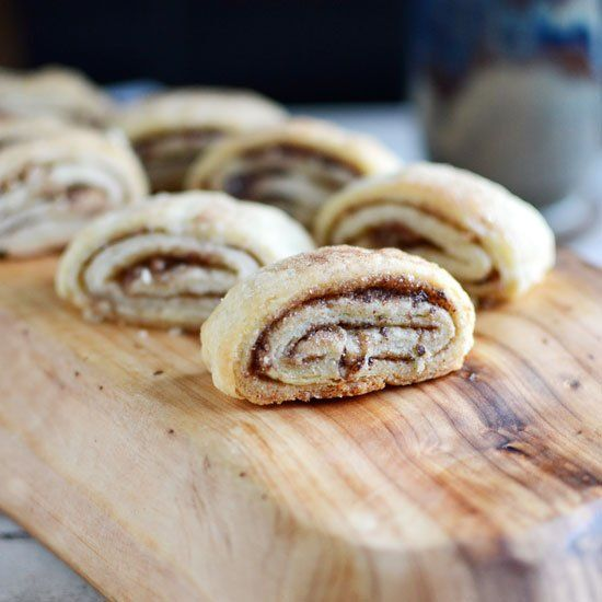 "Bun Cookies"" made with a cream cheese pastry and options for pecan ..."