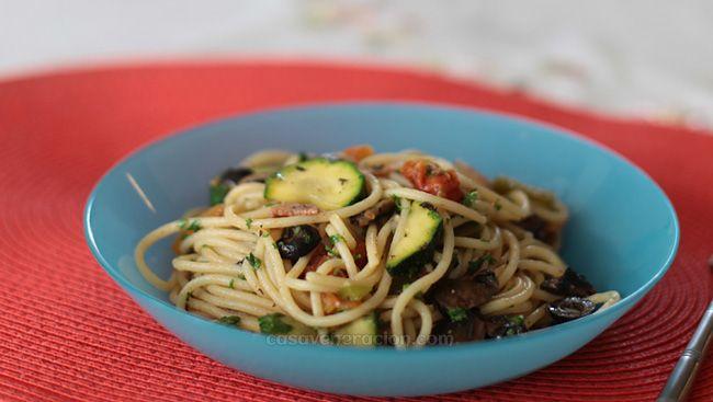 Ratatouille-inspired summer garden pasta: light on the meat, heavy on ...