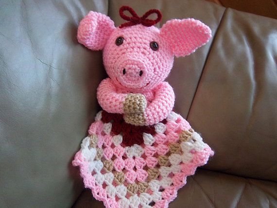 Piggy Lovey crochet pattern Instant download by jojoroseanne, $4.50
