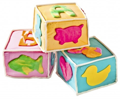 Building Blocks Cake #PampersPinParty