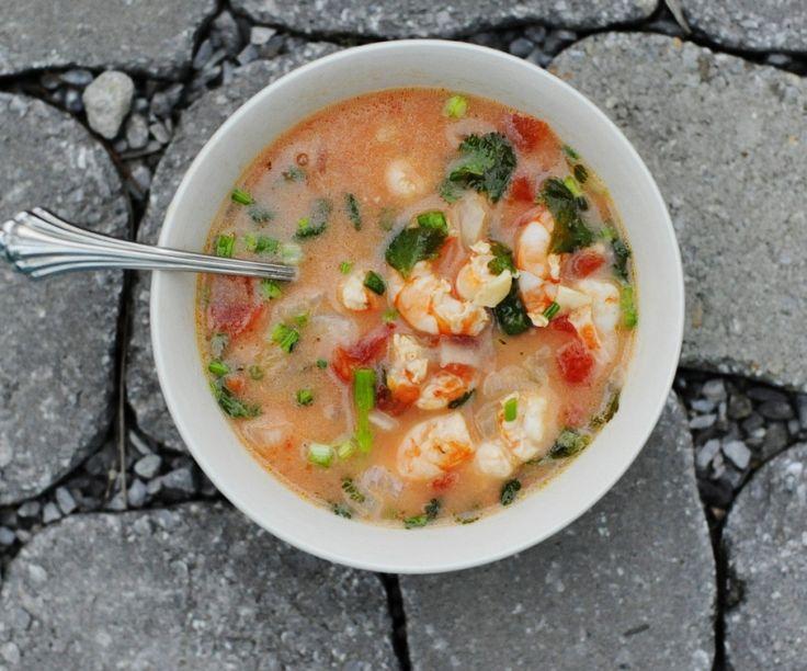 Garlic Shrimp In Coconut Milk, Tomatoes And Cilantro Recipe ...