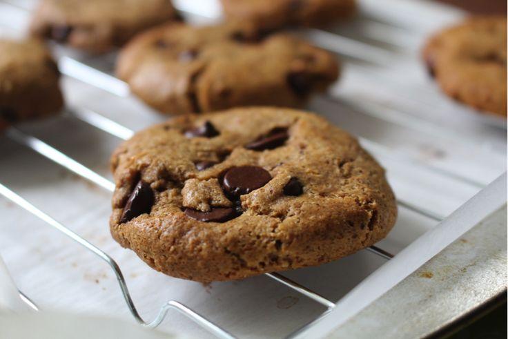 Almond Butter Chocolate Chip Cookies | Gluten Free Recipes | Pinterest