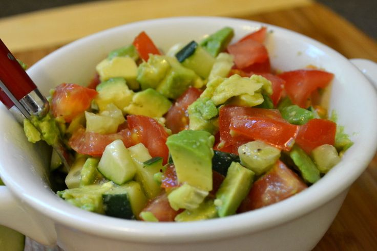 ... good for you (bonus!) Chicken Tacos w/tomato, cucumber & avocado salsa