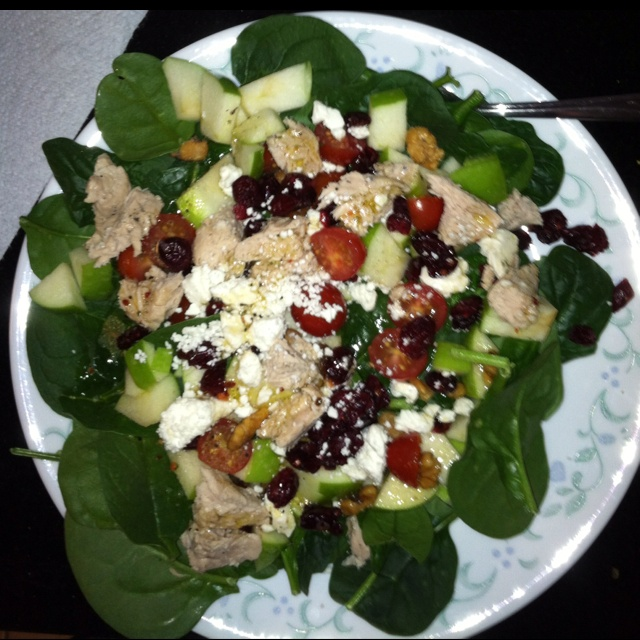 chicken salad for one chicken green apple and feta salad chicken green ...