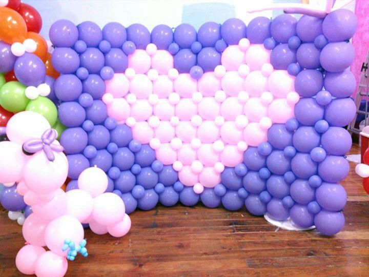 balloon wall decoracion con globos pinterest
