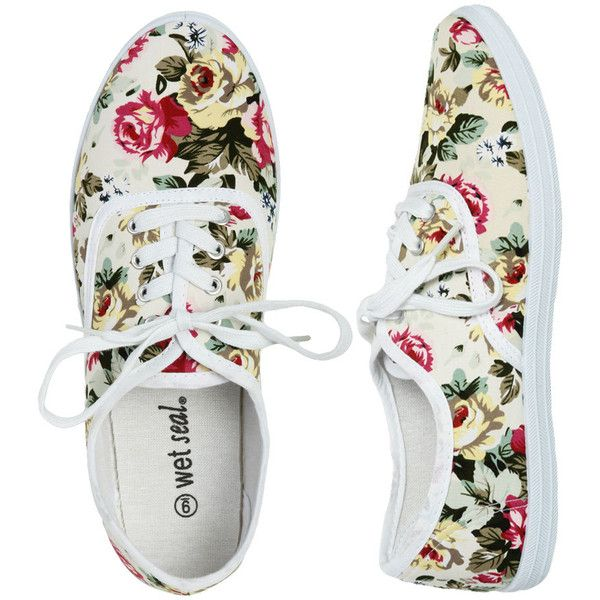 floral tennis shoe liked on polyvore fashion