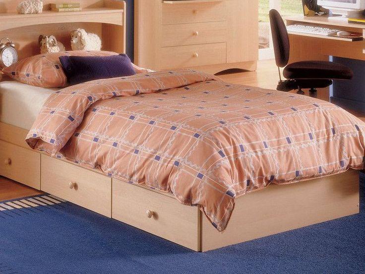 Nexera Alegria Twin Captains Bed In Natural Maple Alegria Twin