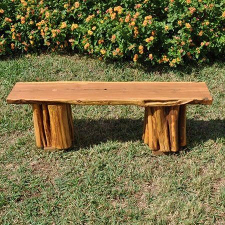 Outdoor Natural Cedar Wood Bench Preschool Decor