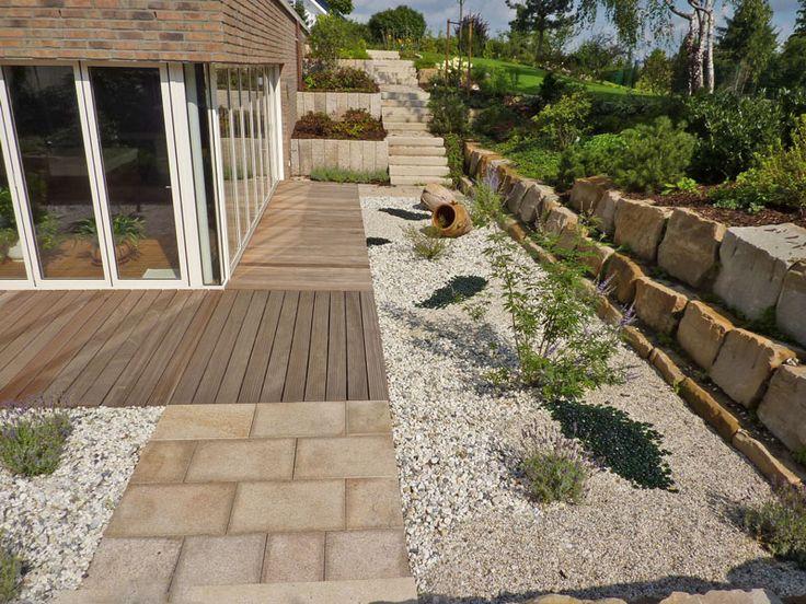 Terrasse Holz Mit Naturstein ~ weg holz terrasse  Garten Inspirationen Ideen DIY  Pinterest