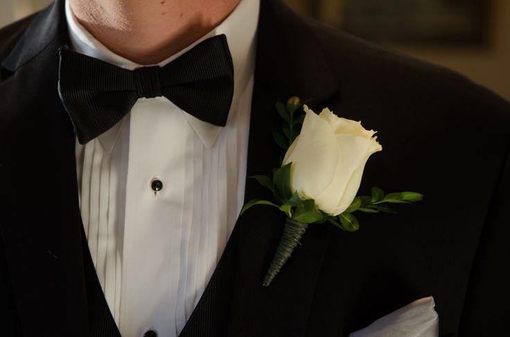groom 39 s single white rose boutonniere jessica burl 39 s. Black Bedroom Furniture Sets. Home Design Ideas
