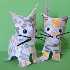 Katzen aus Papier