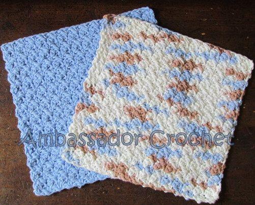 Grit Stitch Dishcloth v.2 Free Crochet Pattern Ambassador Crochet