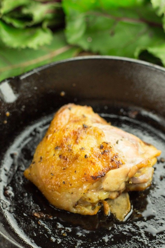 Cast Iron Coconut Roasted Chicken Thighs | Recipe
