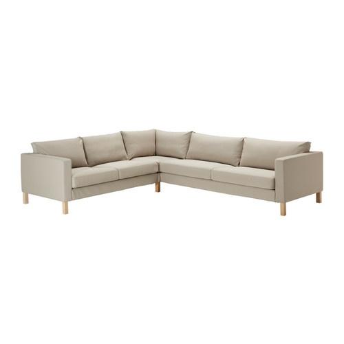 KARLSTAD Corner sofa 2+3/3+2 - Sivik beige - IKEA