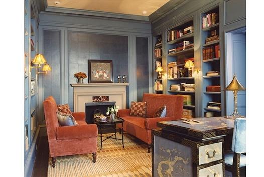 Burnt orange and blue living room interior fix pinterest - Blue and orange living room ...