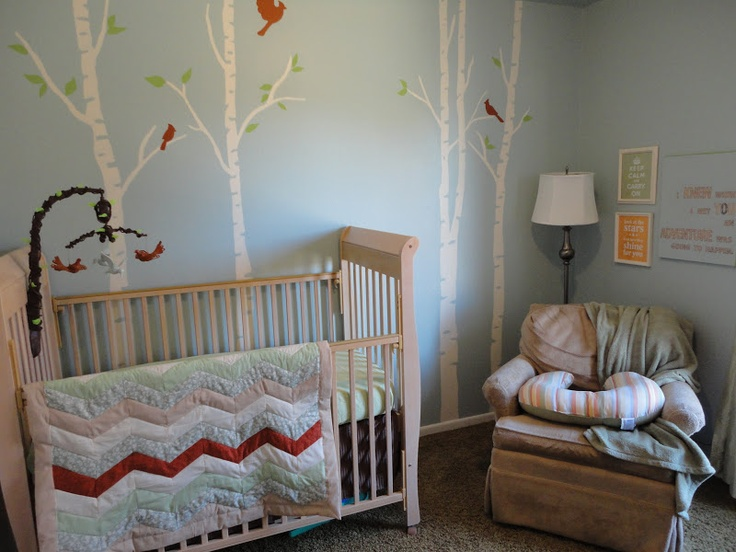 Forest themed boy nursery my favorite things pinterest for Woods themed nursery