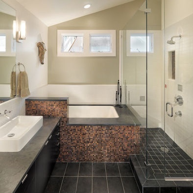 Small master bath design if we ever build another house for Small master bathroom remodel