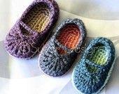 Double Strap Baby Booties (crochet pattern). $5.95, via Etsy.