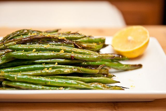 Roasted Green Beans. Making this for dinner; smells delicious!