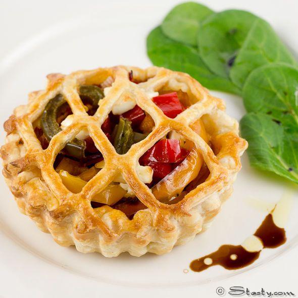 gorgeous pepper + tomato lattice tart.   suppertime.   Pinterest