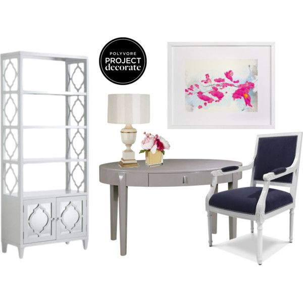 """Traditional Office Glamour"" by blue11interiors on Polyvore"