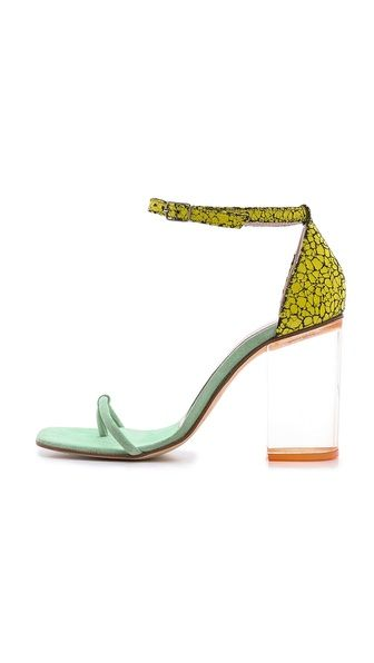 Shop now: Opening Ceremony Jindo Lucite Heel Sandals