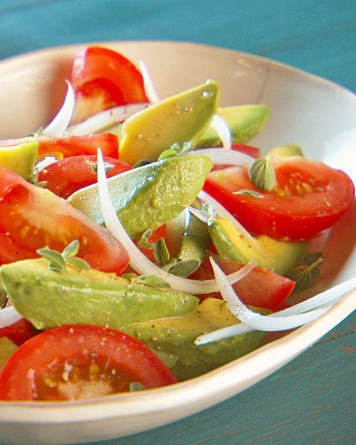Very simple Tomato, Avocado, Onion and Cilantro Salad. Perfect to pair ...