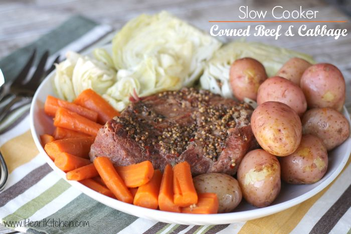 Slow Cooker Corned Beef and Cabbage | Crock pot recipes | Pinterest