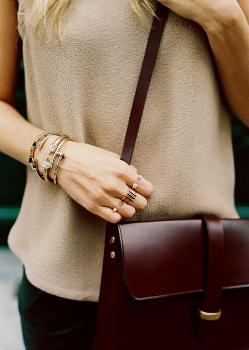 Stylish layered bracelets