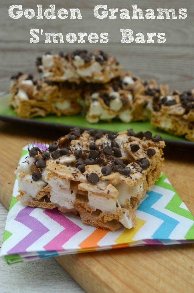 Golden Grahams Smores Bars | Desserts | Pinterest