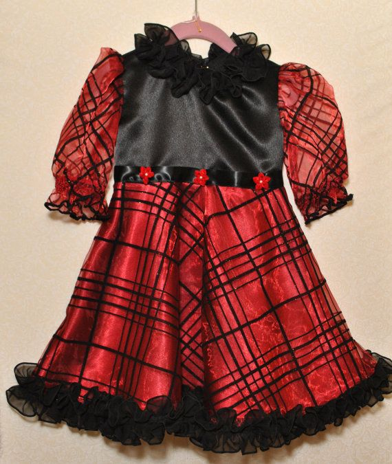 Christmas dress size four available made to order in sizes 18m 24m