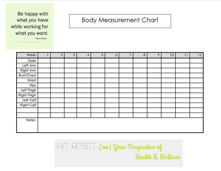 Body Measurement Chart Fitness Body measurement chart