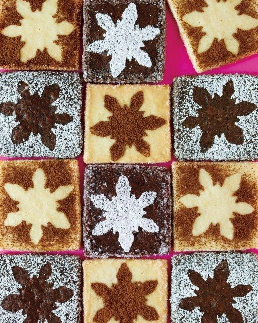 Snowflake-Stenciled Shortbread Cookies Recipe