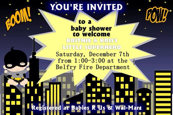 4x6 batman baby shower invitation can easily be customized for batman