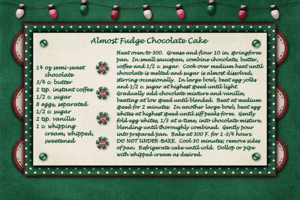 Almost Fudge Cake | Recipe Swaps | Pinterest
