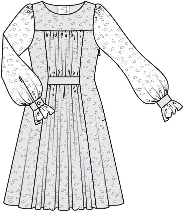 Выкройки платьев для беременных из журнала бурда 44